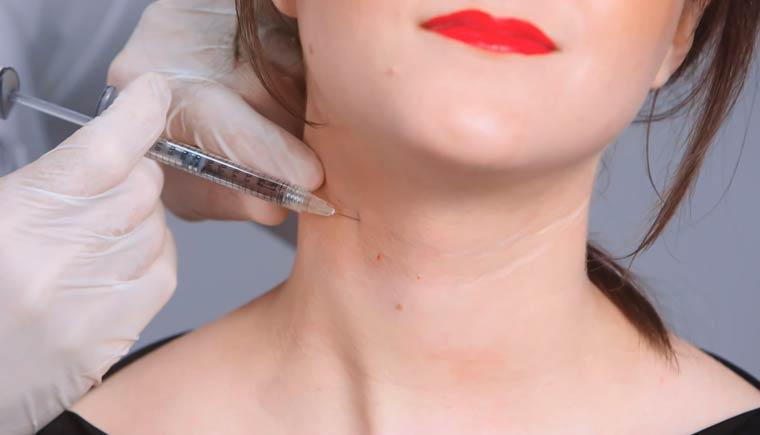 Mesoterapia de cuello y escote